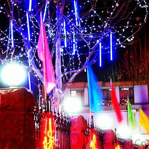 Multi-color 30CM Shower Rain Tubes LED Christmas Lights-Sinbadco