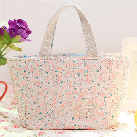 Multifunction Canvas Lunch Bag For Women-Sinbadco