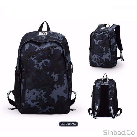Multifunction Usb Charging 14Inch Laptop Backpack-Backpack-Sinbadco