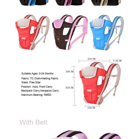 Multifunctional Front Facing Baby Kangaroo Carrier-Sinbadco