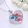 Image of Natural Real Red Decorative Dried Flowers Necklace-Sinbadco