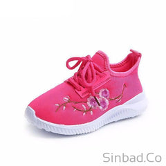 New autumn flower Ultra-light girls sports sneakers