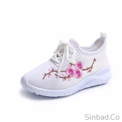 New autumn flower Ultra-light girls sports sneakers-Sneakers-Sinbadco