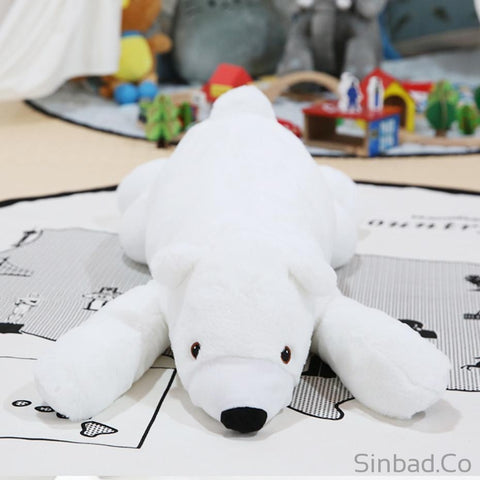 Newborn Baby Pillow Polar Bear Stuffed Plush-Sinbadco