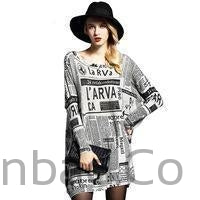 Oversized Loose Knitted Print Plus Size Sweater-Sweater-Sinbadco