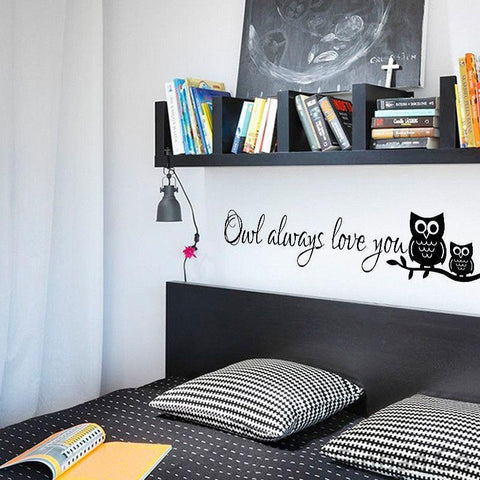 OWL WALL STICKERS FOR KIDS ROOMS-Stickers-Sinbadco