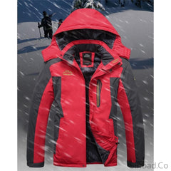 Plus Size Thick Warm Waterproof Outerwear snow Mountain Coat