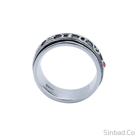 Pure 925 Sterling Thai Silver Rotatable Ring-Rings-Sinbadco