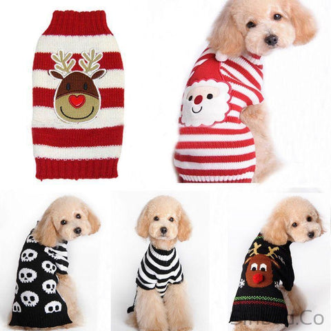 Reindeer Pet Knitted Warm Pullover Sweater-Pet sweater-Sinbadco