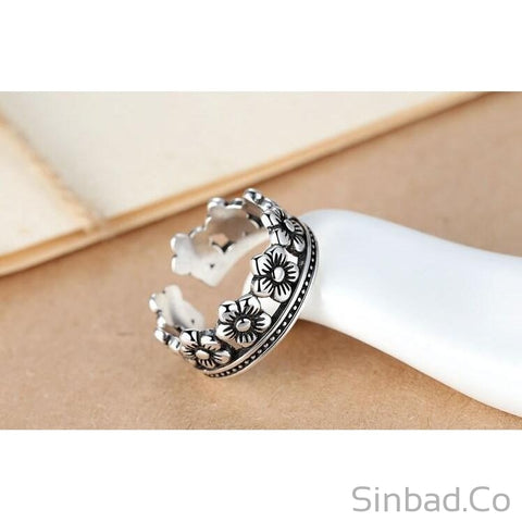 Retro Style Thai 925 Sterling Silver Ring-Rings-Sinbadco