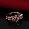 Image of Rose Gold Color Crystal Ring-Sinbadco
