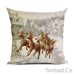 Santa Claus-Christmas Tree- Snowman Pillowcase
