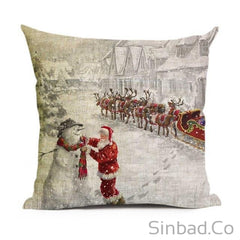 Santa Claus-Christmas Tree- Snowman Pillowcase-pillow cover-Sinbadco