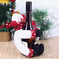Santa Claus Snowman Funny Wine Bottle Hug bag