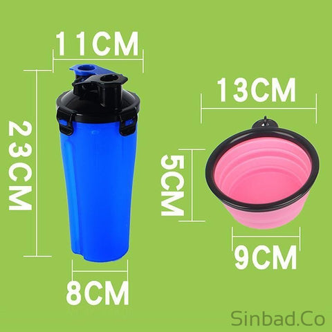 Silicone Collapsible Travel Bowl & Bottle Dispenser for Pets-Sinbadco