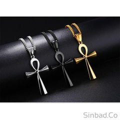 Smooth Design Cross Pendant Necklace
