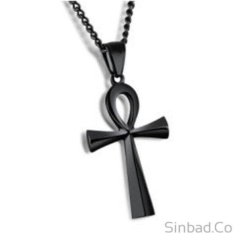 Smooth Design Cross Pendant Necklace-Necklaces-Sinbadco