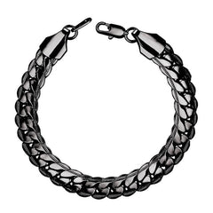 Snake Chain Hand Bracelet - Gold/Black gun/Silver Color