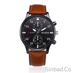Sport Retro Design Leather Band Watch