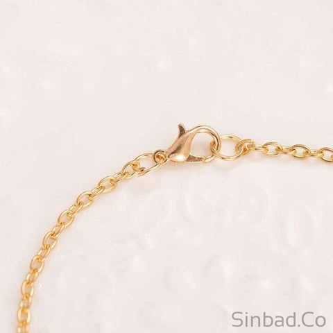 STYLISH GOLD OWL LEAVES NECKLACE-Necklaces-Sinbadco