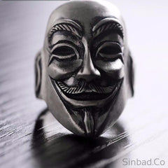 Thai Silver Mask Ring-Rings-Sinbadco