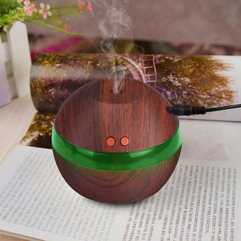 USB Essential Oil Diffuser Aromatherapy Mist Maker with 7 Color LED Light-Sinbadco