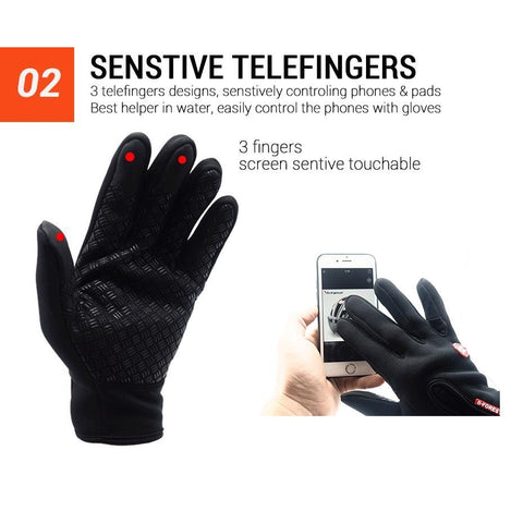 Waterproof Cycling Gloves Full Finger Touch Screen Men Women Bike Gloves MTB Outdoor Sports Winter Bicycle Gloves-Sinbadco
