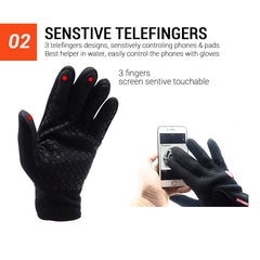 Waterproof Cycling Gloves Full Finger Touch Screen Men Women Bike Gloves MTB Outdoor Sports Winter Bicycle Gloves