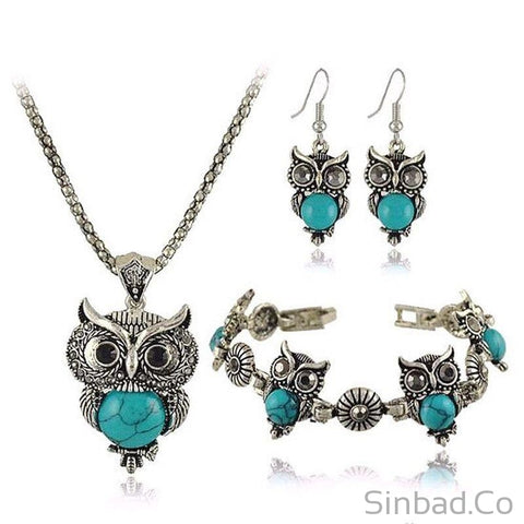 Wize Owl Bohemian Jewelry Set 4 Colors