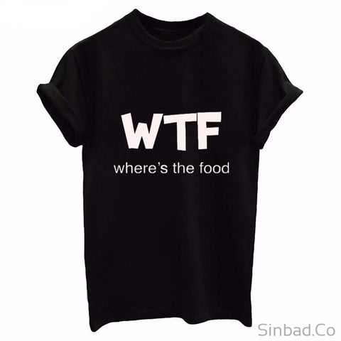 Wtf Where'S The Food T-Shirt-T-shirt-Sinbadco