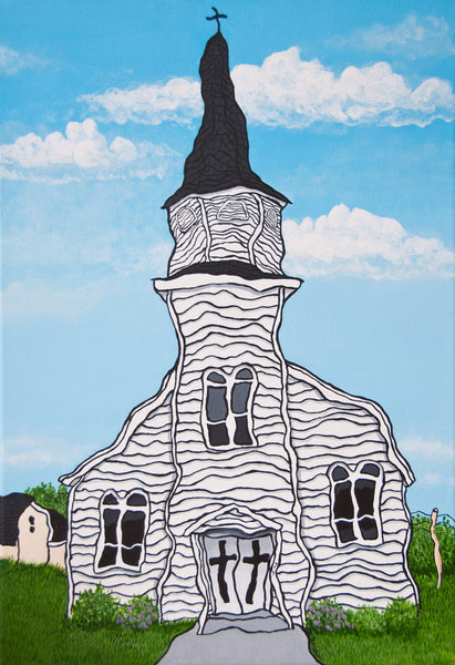 Dawn Langstroth's Painting of St. Thomas More in Pugwash, Nova Scotia.
