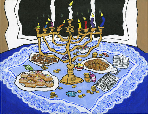 Happy Hanukkah! Print