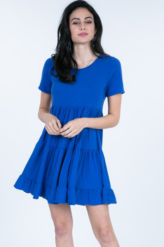 Royal Blue Tiered Dress