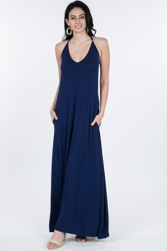 Maxi, Navy Adjustable Strap