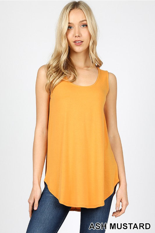 Relaxed Fit Tank, Ash Mustard