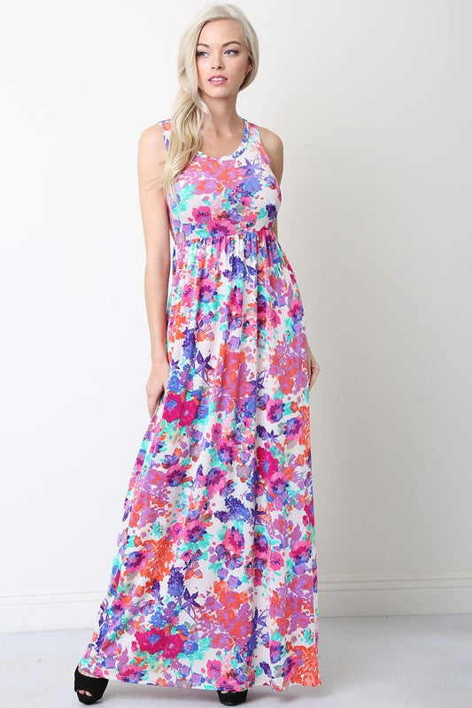 Maxi, Pink Floral