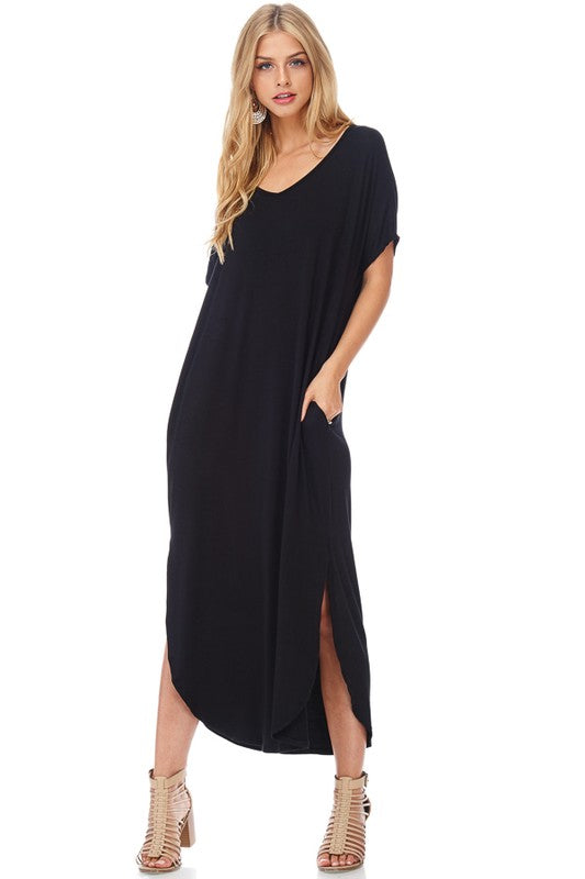 Maxi, Side Slit (Black)