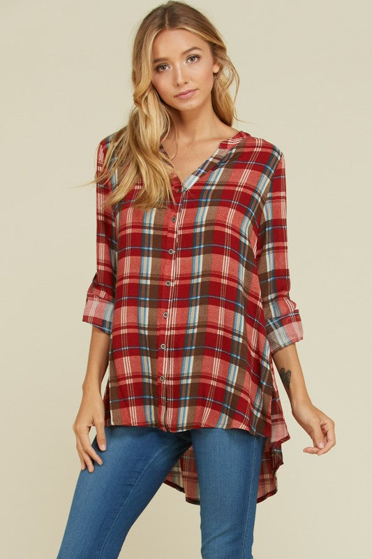 Plaid (Red) Tunic