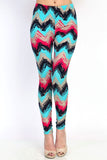Leggings- Chevron print (full-length)
