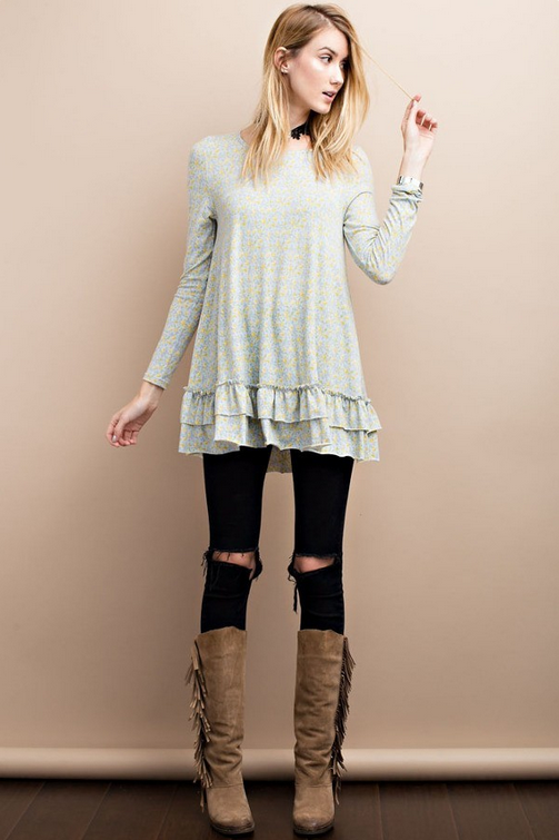 Fashionable In Flowers Tunic