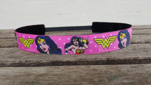 Pink Wonder Woman Nonslip Headband