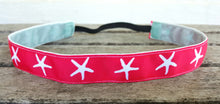 Aqua, Coral or Navy Starfish Headbands