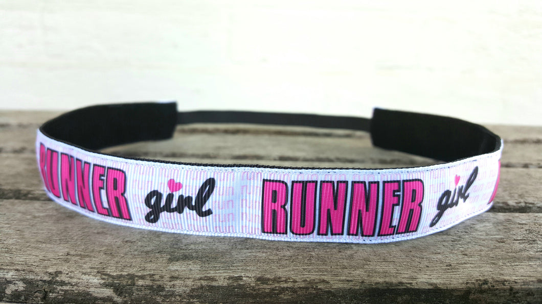 Pink and White Runner Girl Headband