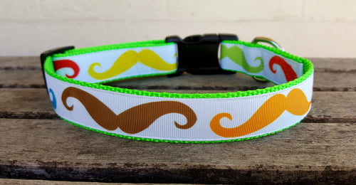 Macho Mustache Dog Collar