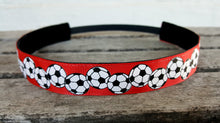 Red, White and Black Soccer Headband