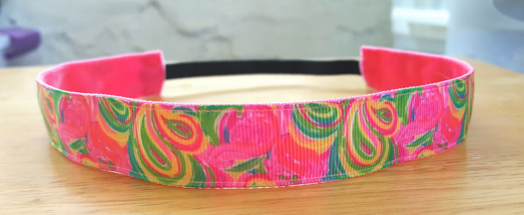 Lilly Inspired Flamingo Swirls Nonslip Headband