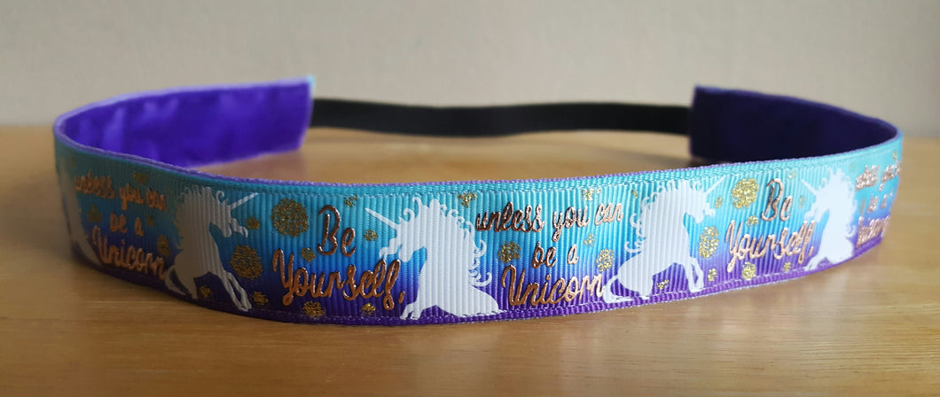 Be Yourself Unicorn Nonslip Headband