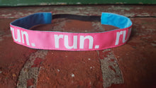 Pink and White Run Headband