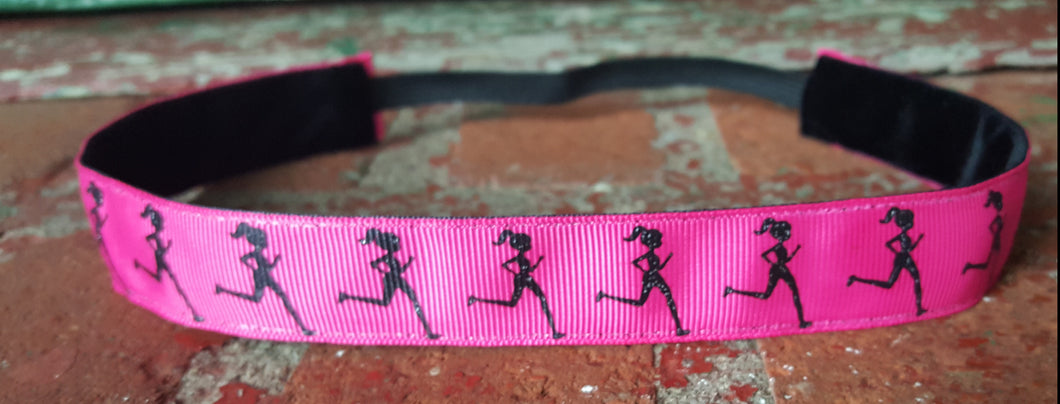 Pink Runner Girl Nonslip Headband