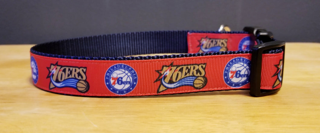 Philadelphia 76ers Inspired Dog Collar